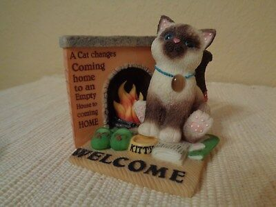 "Enesco Calico Kitten ""A Cat Changes Coming Home To An Empty House To Coming Home"
