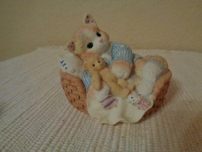 "Enesco Calico Kittens ""Your Friendship Takes The Prize"" Figurine"
