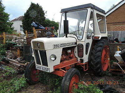 David Brown Tractor 990 Road reg(P) 1976,older restoration needs recommissioning