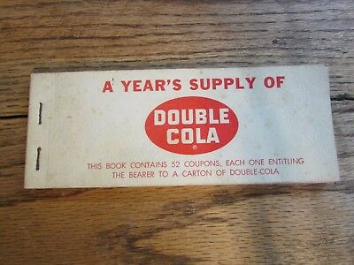 """Vintage """"a Year's Supply Of Double Cola""""...coupon Book...nr."""