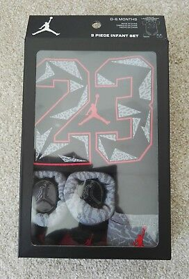 Nike Jordan Crib 3 Piece Set Baby Clothing Clothes Brand New Vest Hat Booties