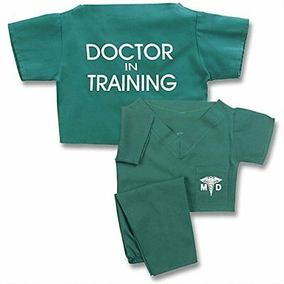 Unisex Children's Green Doctor In Training Scrub Suit Outfit Costume Set Size 8