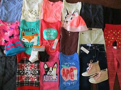 Girls Size 5T FALL WINTER SCHOOL Lot Name Brand Clothes & Outfits NEW!!  NWT'S
