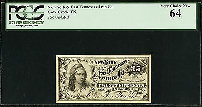 Cove Creek, TN  - New York and East Tennessee Iron Co. PCGS 64!