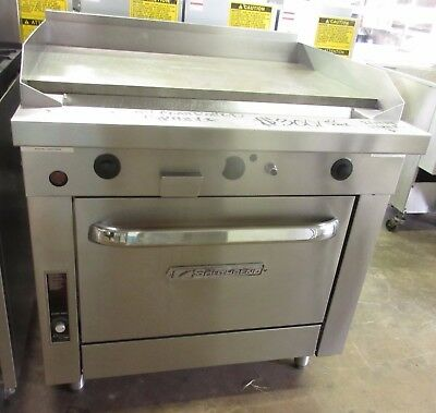 "Southbend P36D-TTT Heavy Duty Range w/ 36"" Thermostatically Controlled Griddle"