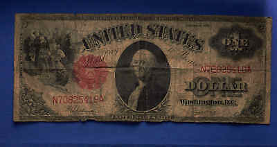 1917 $1 Legal Tender Note. Red Seal. No Reserve.