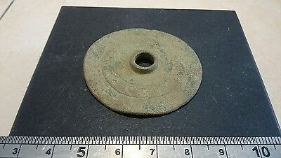 Very rare Roman bronze Shield decoration from the Teutoburg Forest Germania. L3j
