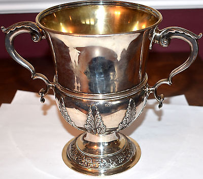Tiffany + Co. Sterling Silver 2 Two Handled Loving Cup Trophy  Grapes & Leaves