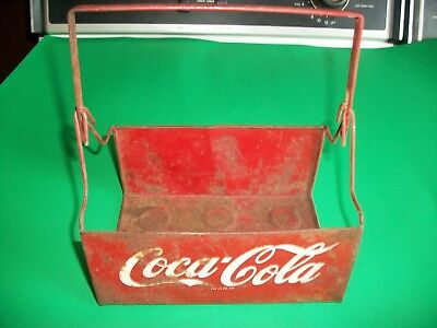 Rare Antique Hard to Find Coca Cola Coke Metal Carrier NICE