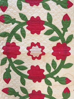 Superb Antique Early Appliqué Quilt 1880's