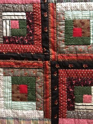 Antique Barn Raising Log Cabin Quilt
