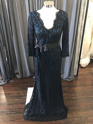Tadashi Shoji Lace Evening Gown Mother Of The Bride Groom Dress Sz 6