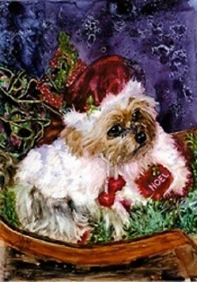 10-pack Christmas Holiday Cards W/ Envelopes- Yorkie