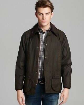 Barbour Men's Classic Wax Jacket Bedale Olive (Size M 38) + Quilt Zip In Lining
