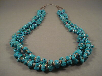 Museum Vintage Navajo 'plethora Of Turquoise' Heishi Necklace Old