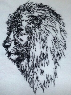 Completed Embroidery Lion