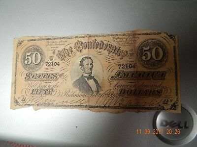 50 Dollar Confederate Note