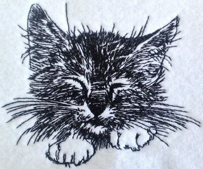 Completed Embroidery Kitten