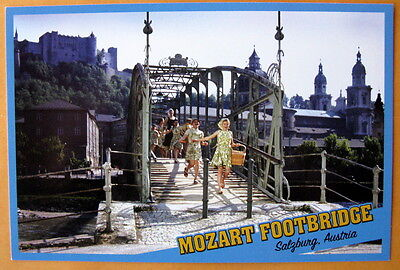 Mozart Footbridge  Salzburg, Austria - The Sound of Music - unmarked postcard