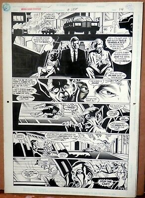 Signed Darick Robertson pencils Justice League Europe original page issue 30