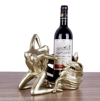 New European Decoration Gift Resin 1 Bottle Beautiful Girl Wine Rack Holder &$