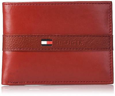 16pc Tommy Hilfiger Ranger Red Leather Passcase Billfold Men's Wallet NWT