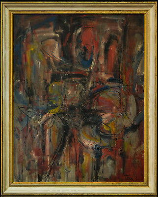 Harold Barling Town 1924-1990 Canadian Listed Artist Abstract Original Oil