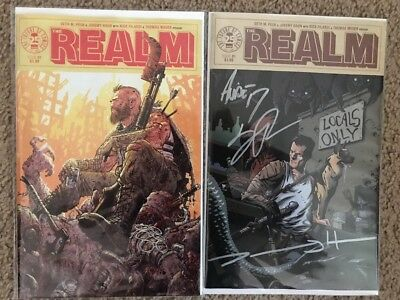Realm 1 cover B + Elite Comics Store Variant Limited 500 Signed By Creators!
