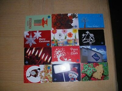 Sam's Club  12 different new and used collectible gift cards