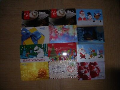 Canada Miscellaneous  12 dfferent new collectible gift cards