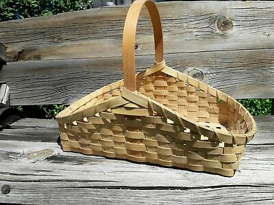 Cherokee Native American Indian Gathering Basket Signed & Date Excellent