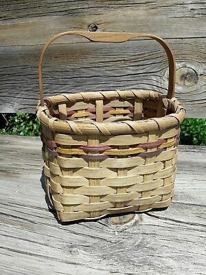 Cherokee Native American Indian Basket Excellent Condition Signed T. Seigel
