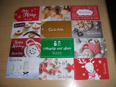 Sur La Table  12 different new collectible gift cards