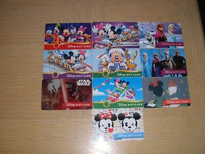 Disney  10 different new collectible gift cards