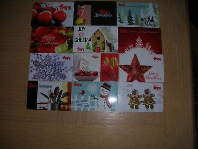Fry's  12 different new collectible gift cards