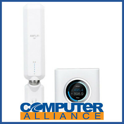 Ubiquiti Amplifi Router & 1x Mesh Point Bundle Pack Medium Size Home Or Office