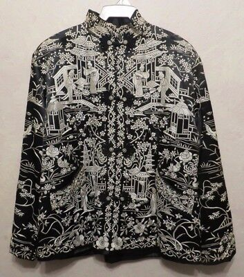 Vintage Chinese Embroidered Ladies Silk Jacket Exquisite