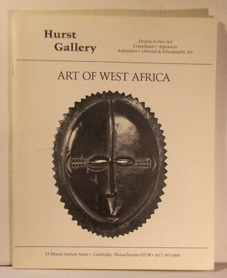 West African Art 1987 Hurst Gallery Exhibition Sale Catalog Illustrated