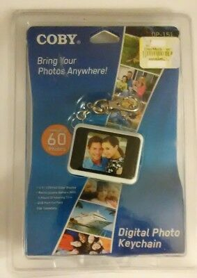"""COBY Digital Photo Keychain DP-151 White New/Sealed! Holds 60 Color Display 1.5"""""""