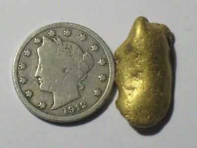 Gold Nugget. 9.6+ Gram Placer Gold Nugget,PURE RAW RIVER GOLD