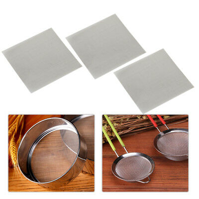 3Pcs Stainless Steel 50 Mesh Micron True Fine Screen Filtration Filter 3.9x3.9''