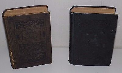 2 Antique 1891 Holy Bibles American Bible Society New York