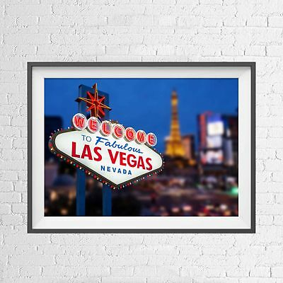 LAS VEGAS NEVADA STRIP CASINO CITY POSTER PICTURE PRINT Sizes A5 to A0 **NEW**