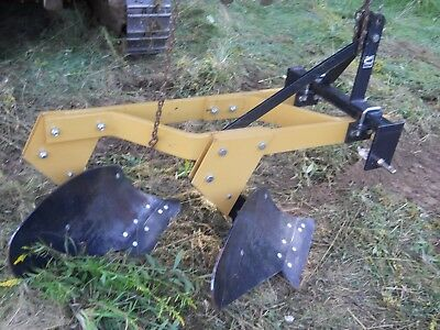 MPH124 3 pt. Rear Attach 2 Bottom Plow Category 1
