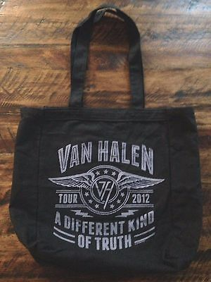 "Van Halen Band Tour 2012 ""A Different Kind Of Truth"" Black Canvas Tote Bag"