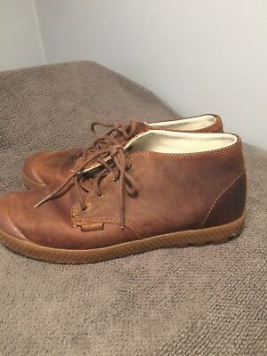 Palladium Leather Brown Leather Casual Lace Up Boots Shoes Sz US 9