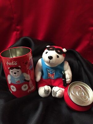 Coca-Cola Plush Olympic (Discus) Bear in a Can, Athen 2004