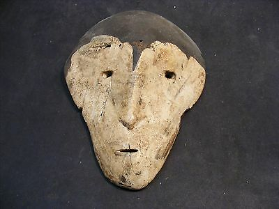 African Wood Carved Lega Style Face Mask