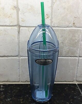 Starbucks 16oz Blue EMPIRE Tumbler Cup 2002   NEW
