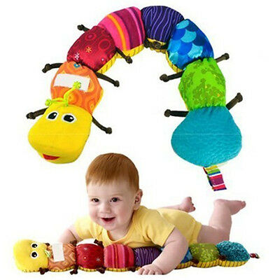 "New Lamaze Learning Curve Caterpillar Inch Worm 24"" Plush Musical Baby Toy US"